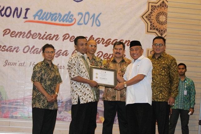 Dua Atlit Terbaik Depok Raih Koni Award 2016