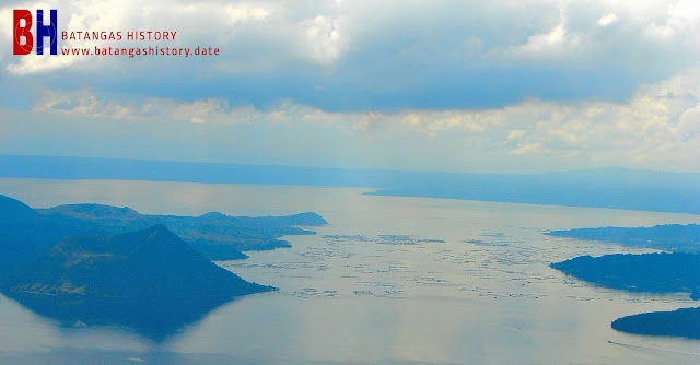 Taal Lake and the volcano crater island seen from Tagaytay.