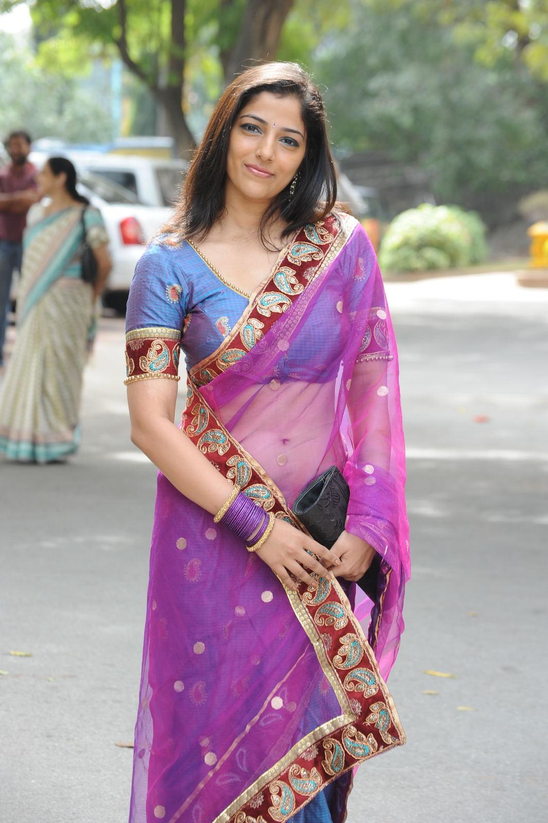 Cute nishanthi in a transparent saree