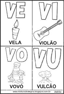 Cartaz das famílias silábicas do V