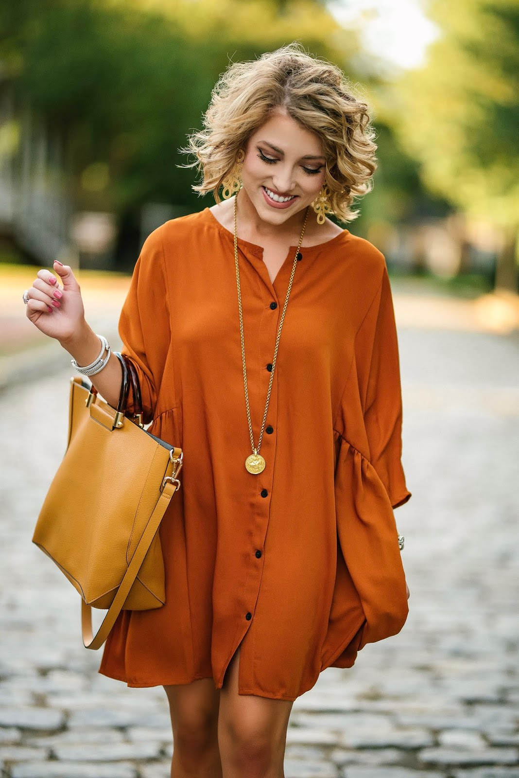 Under $50 Rust Dress + A Huge Sale! - Something Delightful Blog