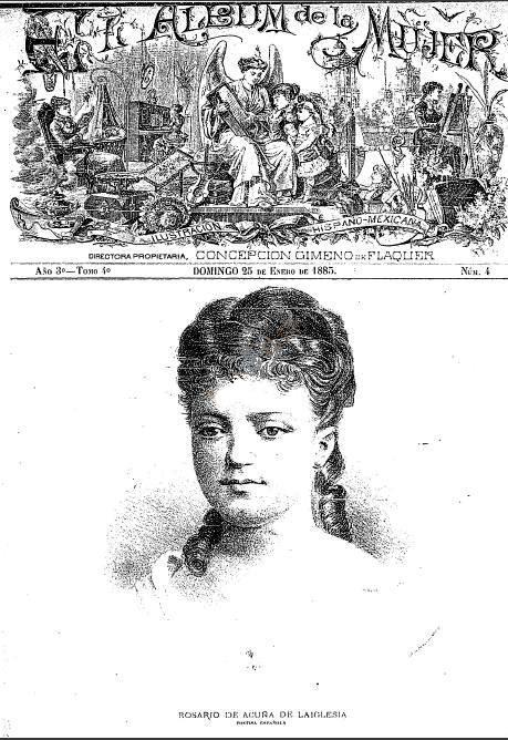 Portada de El Álbum de la Mujer, México, 25-1-1885