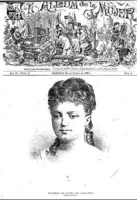 Portada de El Álbum de la Mujer, México 25-1-1885