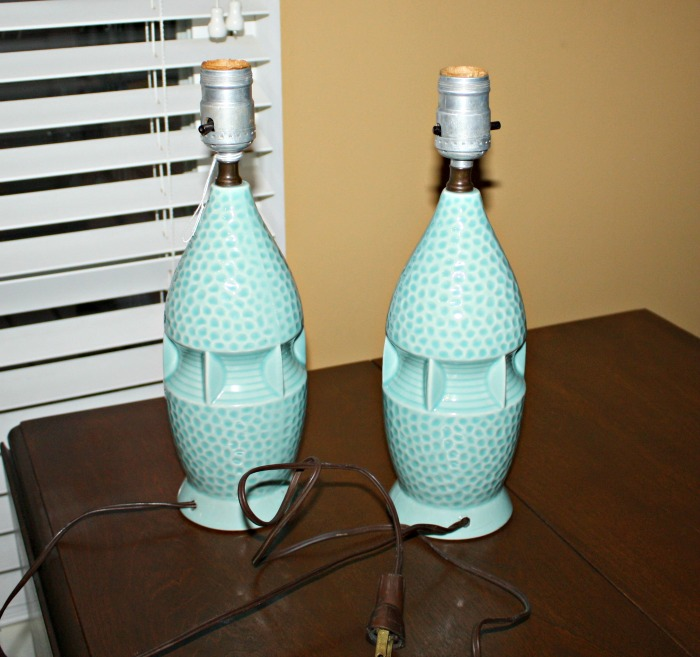 Vintage lamps from thrift store