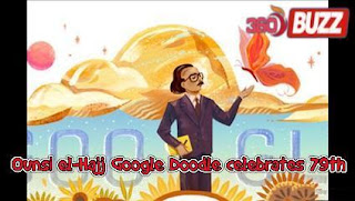 Google today celebrates the 79th birthday of poet Lebanese Ounsi el-Hajj