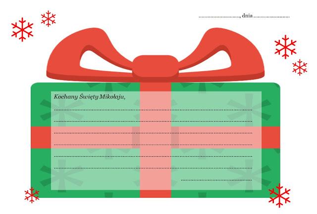 list do Świętego Mikołaja do druku - Boże Narodzenie - Mikołajki