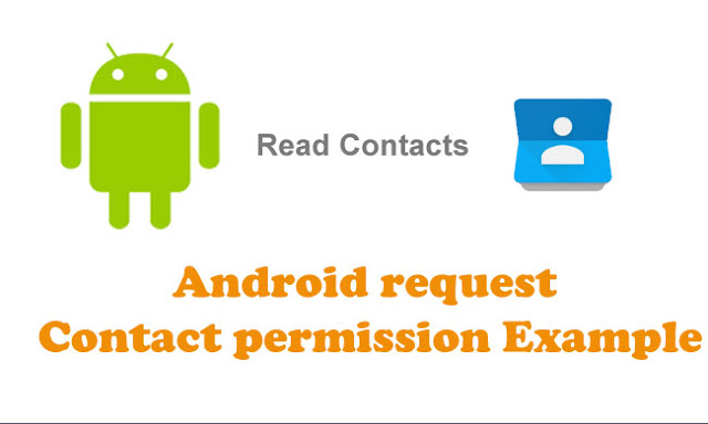 Android request contact permission Example