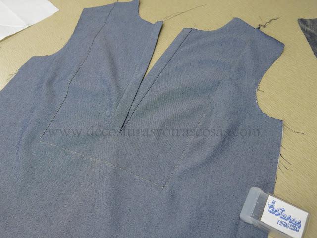 como hacer blusa con pechera