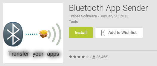 Bluetooth App Sender for any Installed App Transfer