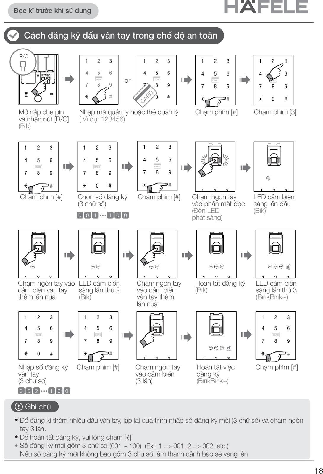 [TASECO GROUP] Hướng dẫn cách sử dụng khóa cửa chính Hafele
