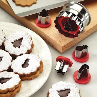Biscoitos Linzer ou Linzer Cookies...