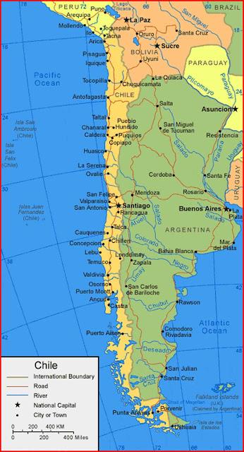 Gambar Peta chile