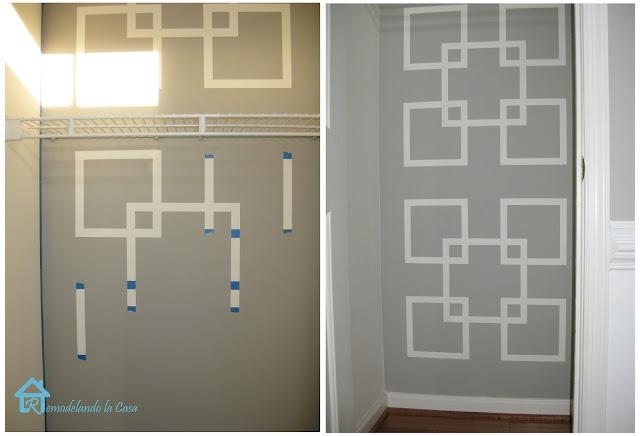 Diy geometric wall art remodelando la casa for Geometric paint designs