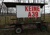 Keine A39 Protestwagen zwischen Jembke und Tappenbeck