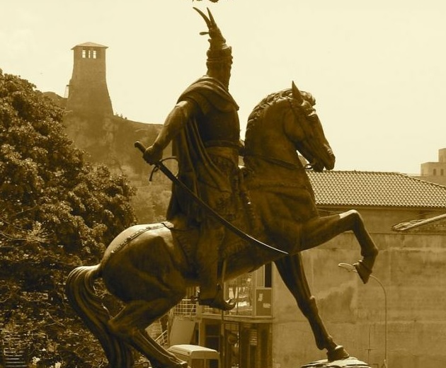 Skanderbeg statue in Paris