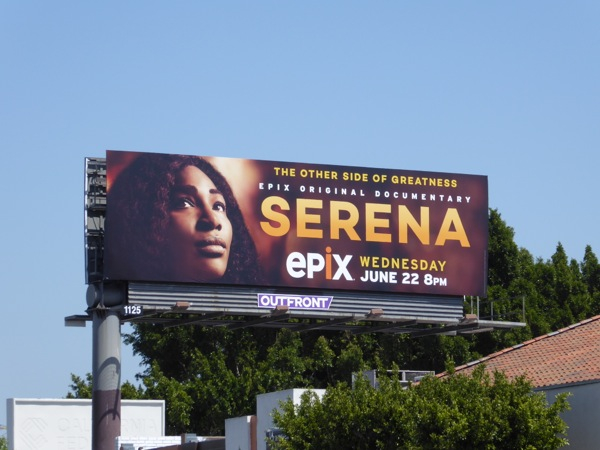 Serena Epix documentary billboard