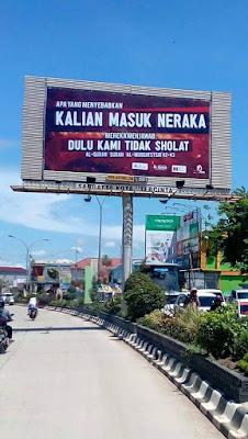 4 Billboard 'Dakwah' di Sangatta Kaltim Ini Tuai Pujian Netizen