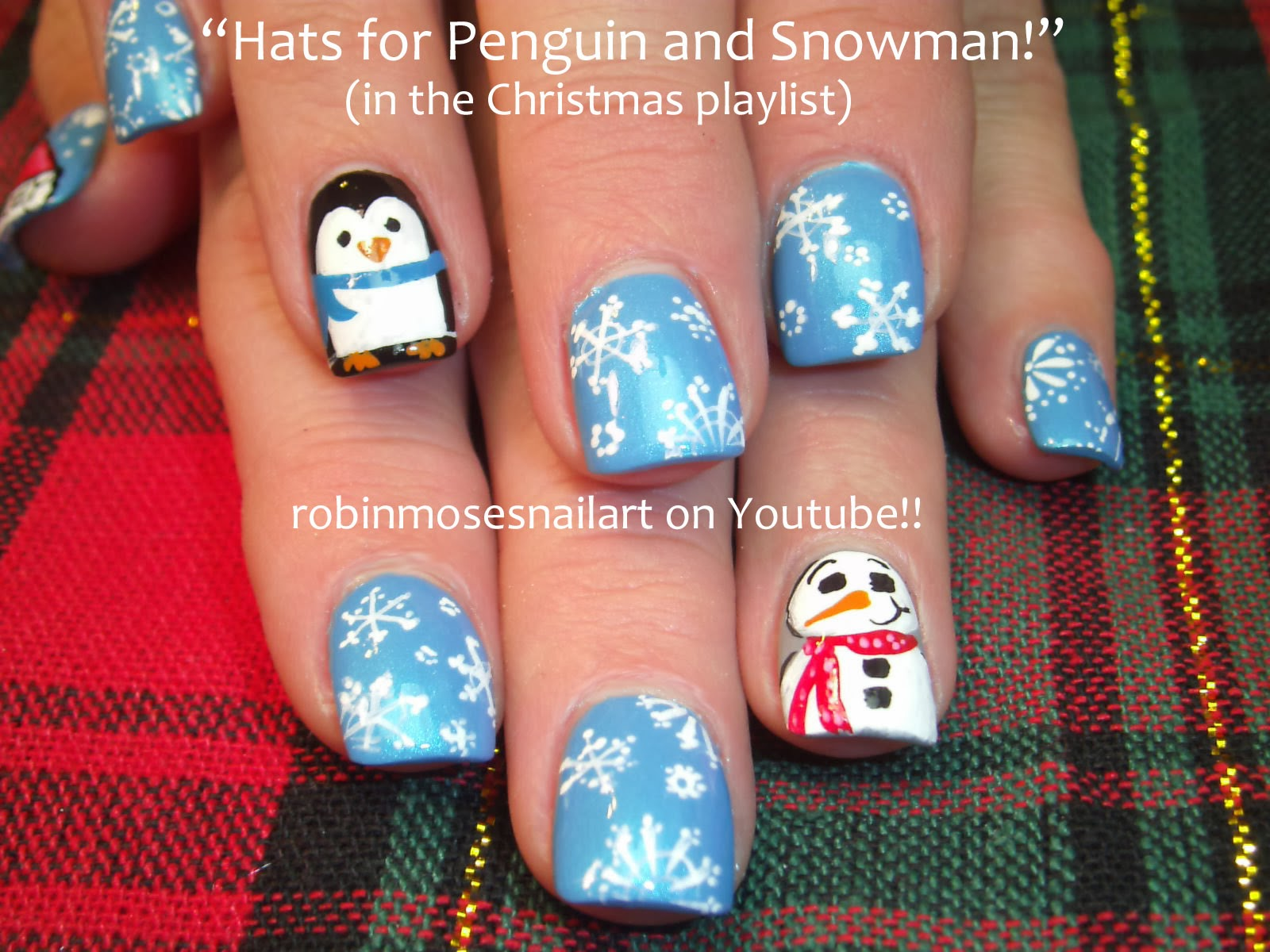 Nail Art By Robin Moses Most Christmas Nail Art Tutorials