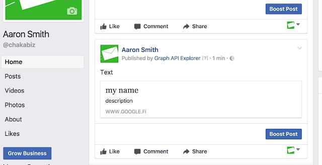 Facebook Page api