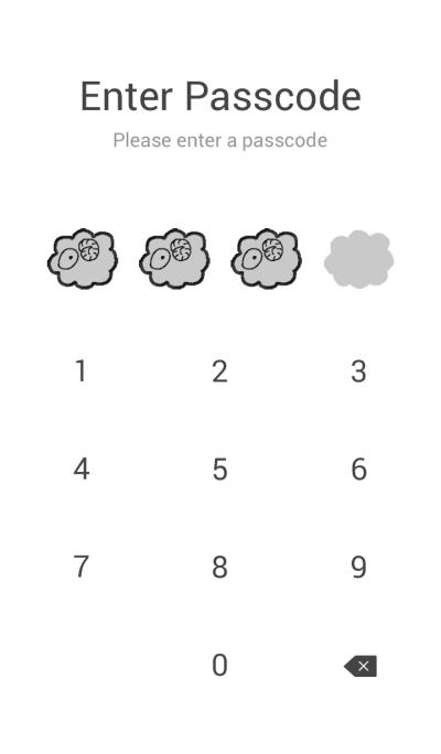 A sheep.GRAY
