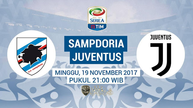 Prediksi Bola : Sampdoria Vs Juventus , Minggu 19 November 2017 Pukul 21.00 WIB