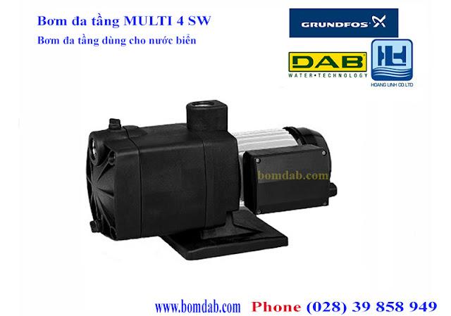 máy bơm chìm dùng trong nước biển multi 4 sw m