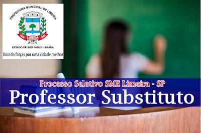 Edital Processo Seletivo SME Limeira-SP professor substituto