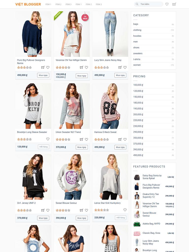 Theme Blogger bán hàng Việt Designer Shop chuẩn Seo - Ảnh 2