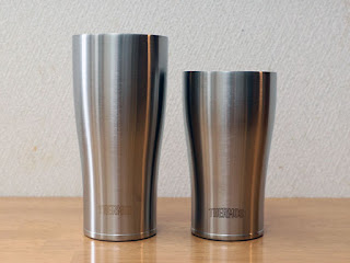 THERMOS 真空断熱タンブラー  JDE-420/JDE-340 サイズ比較