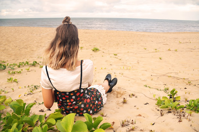 blonde balayage beachy boho lob with top knot on beach tumblr