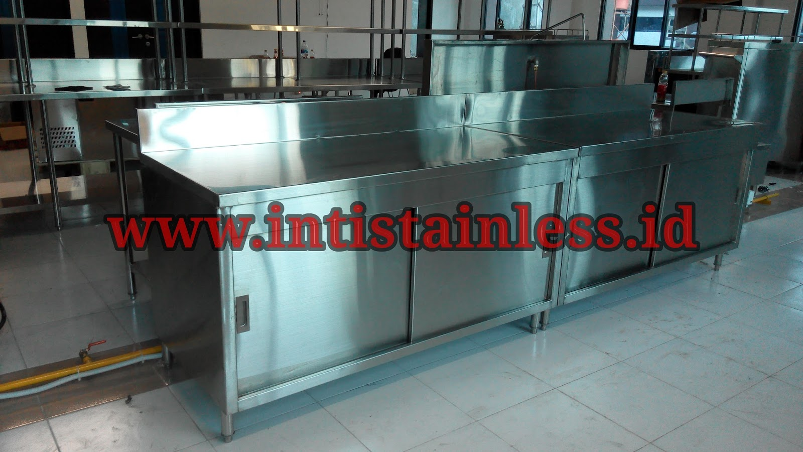 Jual Kitchen Set Stainless Meja Cabinet Lemari Obat Rumah Sakit Makanan Restoran Kabinet