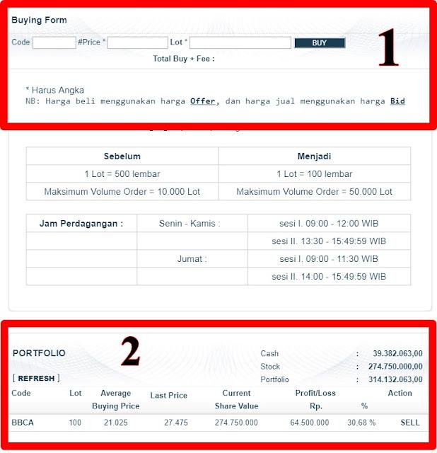 Demo Trading Saham Gratis Dengan Modal  Virtual Rp 100.000.000