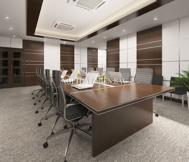 Bàn veneer phòng họp có ưu điểm nổi trội về kết cấu và mẫu mã, có chất lượng và độ bền bỉ cực ấn tượng