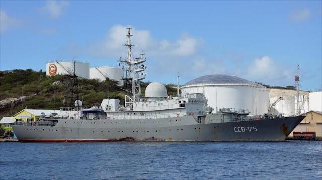 Marina de EEUU vigila barco espía ruso cerca de una base naval