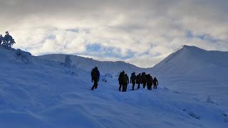 Nottingham University club winter skills and winter mountaineering