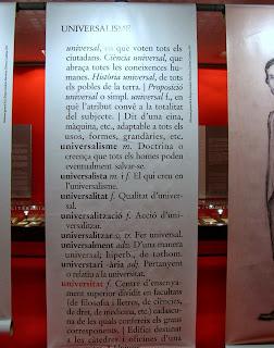 Exposició bibliogràfica: homenatge a Pompeu Fabra per Teresa Grau Ros