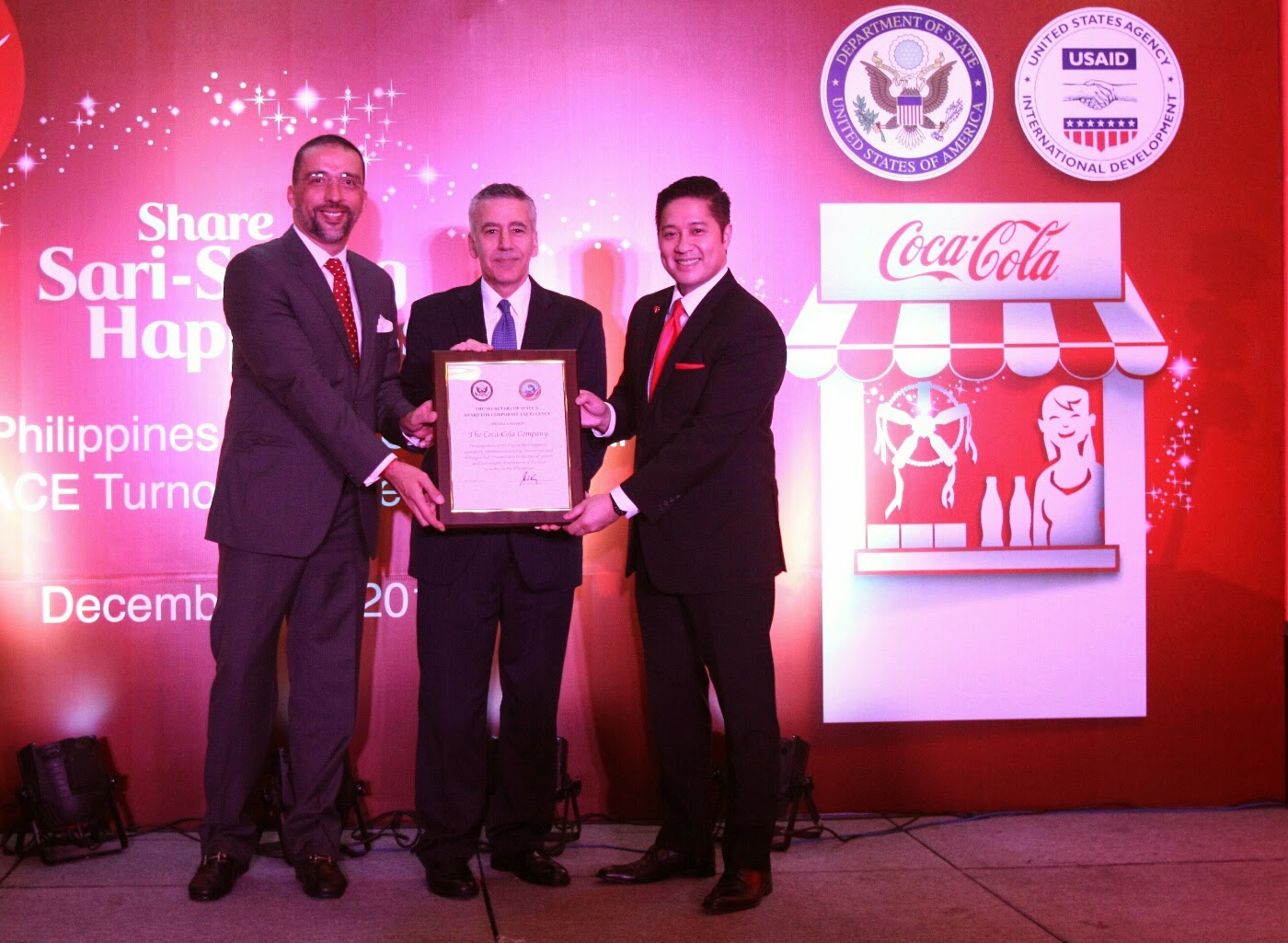 US government honors Coca-Cola Rebuild Programs in Leyte with the Award on Corporate Excellence