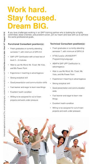 Lowongan Kerja di SAP Training Partner
