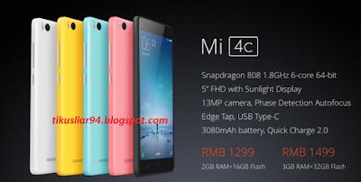 Spesifikasi Keunggulan dan Kelemahan Produk Xiaomi Mi 4c Terbaru 2016