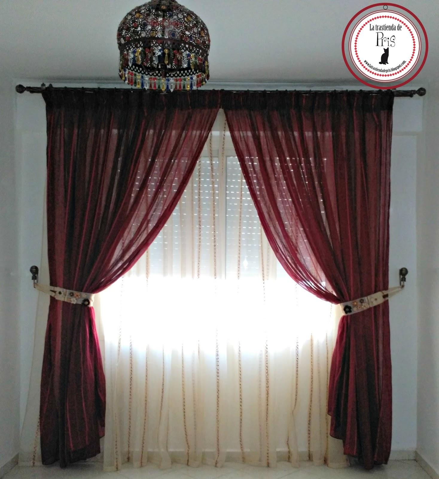La trastienda de pris cortinas de sal n con cinta de fruncir - Cortinas de salon ...