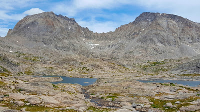 Fremont and Jackson Peak above Indian Basin in the Wind River Range of Wyoming, USA.