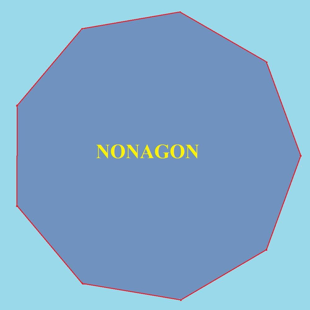 Mathematics How To Draw A Regular Polygon Nonagon Using 360 Degrees
