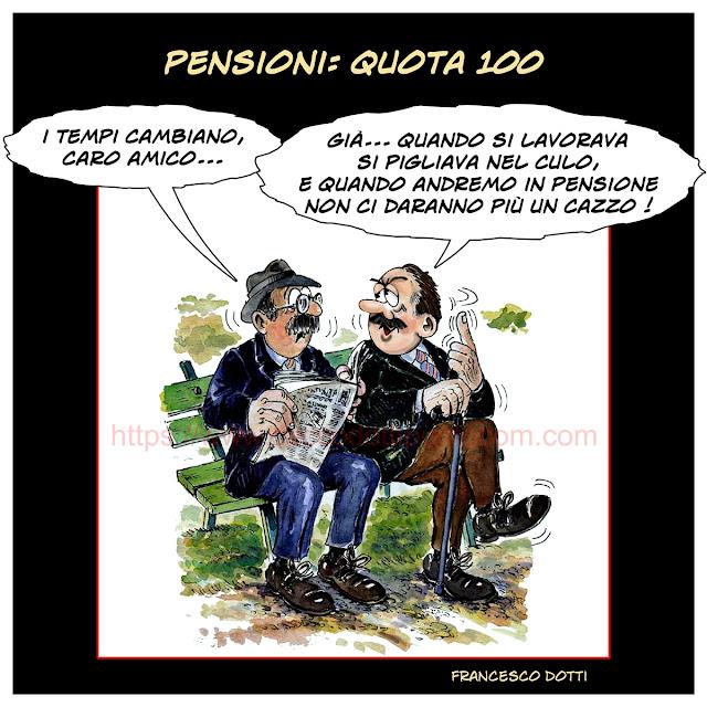 Pensioni: quota 100