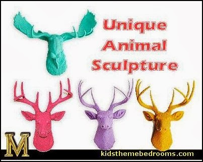 Faux deer/stag taxidermy wall mount. Awesome piece of hanging wall art