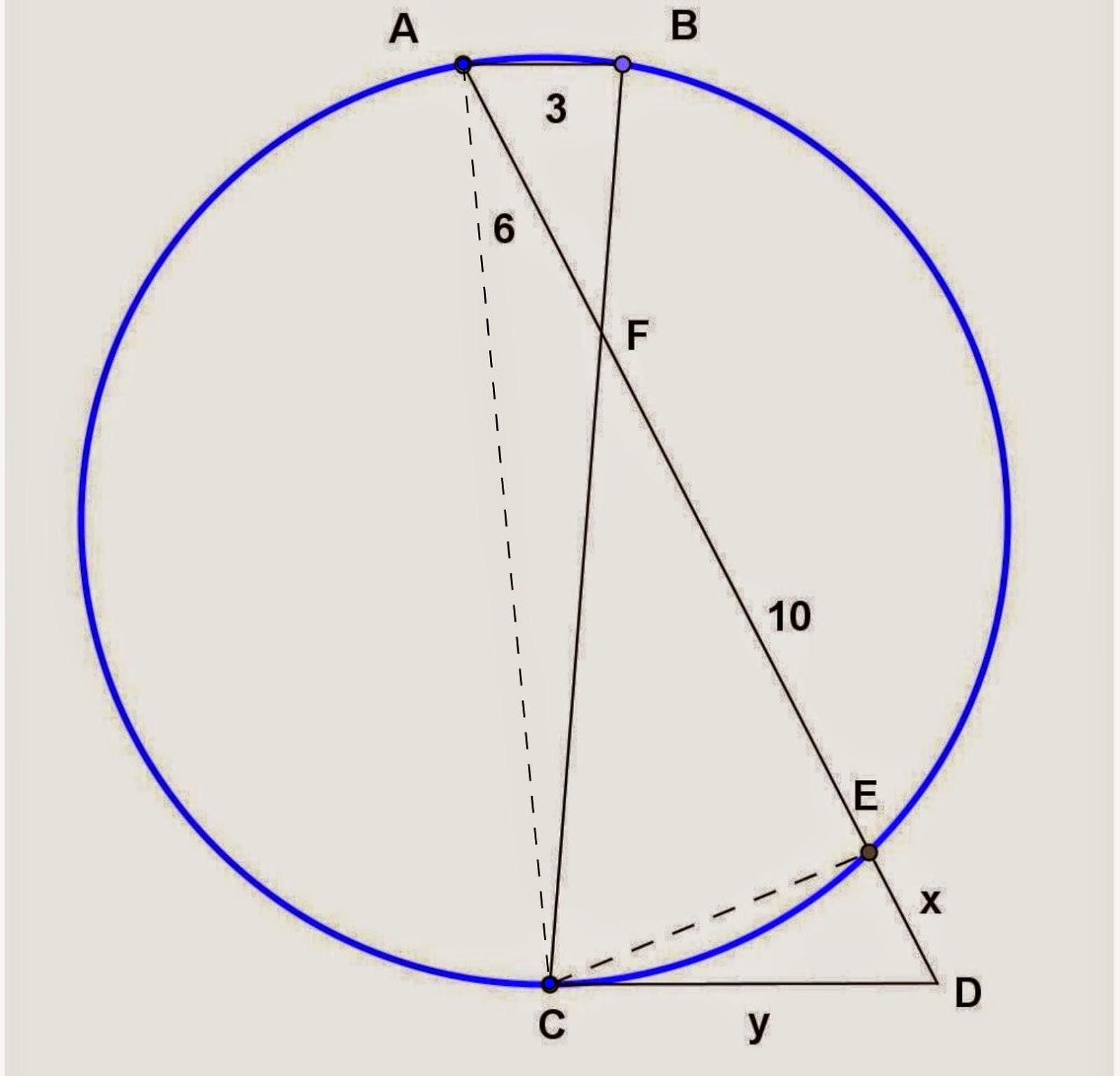 Math Principles Circle And Secant Segment Problems 7