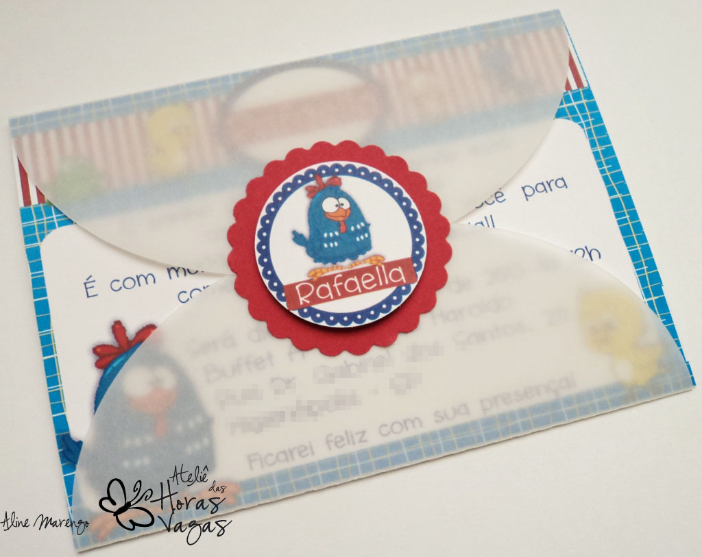 convite aniversário infantil turma da galinha pintadinha 1 aninho festa artesanal