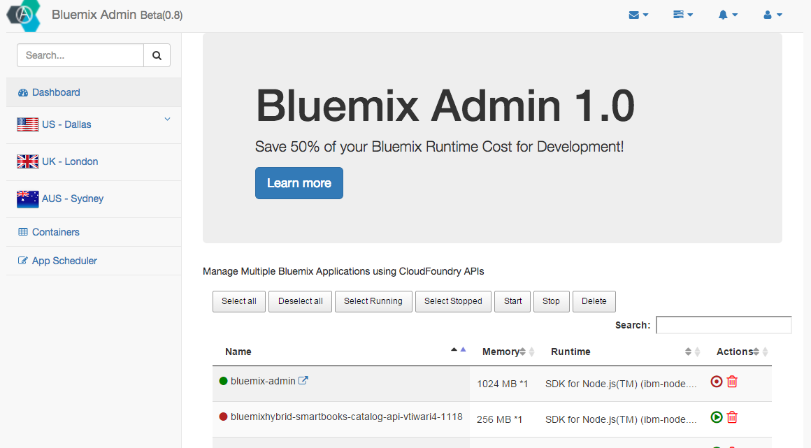 Cloud Evangelist: Manage Bluemix Apps in your own Code using