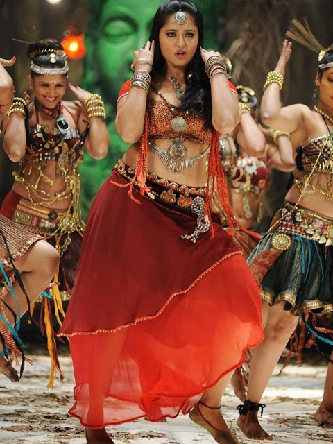Anushka Shetty sexy dance in red dress