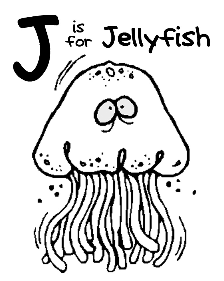 We Love Being Moms!: Letter J (Jellyfish)