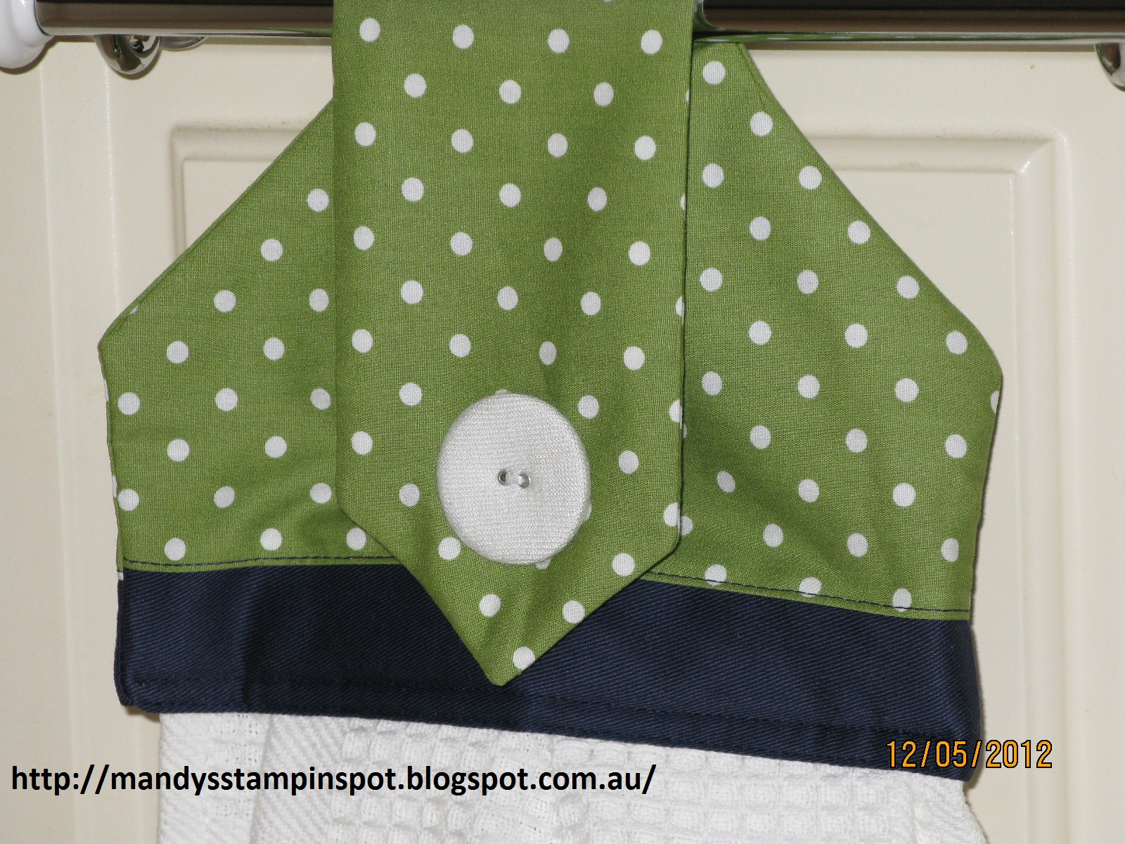 Mandy's Stampin Spot: Sewing - Hanging Hand Towel